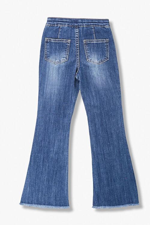 Girls Patch-Pocket Flare Jeans (Kids), image 2