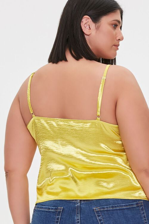 Plus Size Satin Flounce Cami, image 3