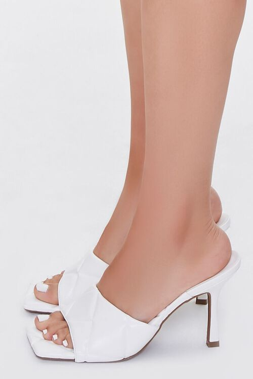 Quilted Square-Toe Heels, image 2