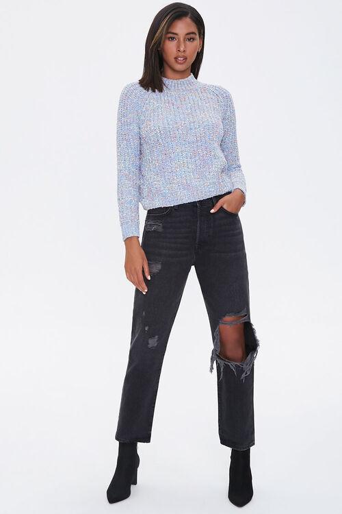 Marled Mock Neck Sweater, image 4