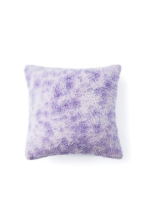 LAVENDER/WHITE Tie-Dye Wash Faux Shearling Pillow, image 2
