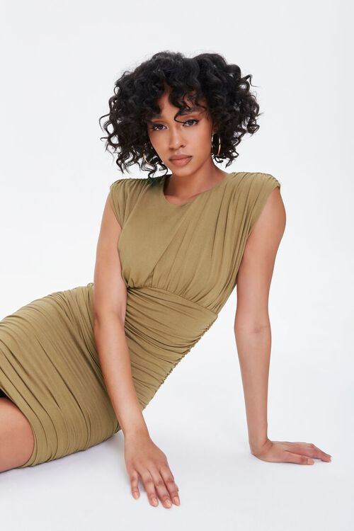 Shirred Bodycon Dress, image 1