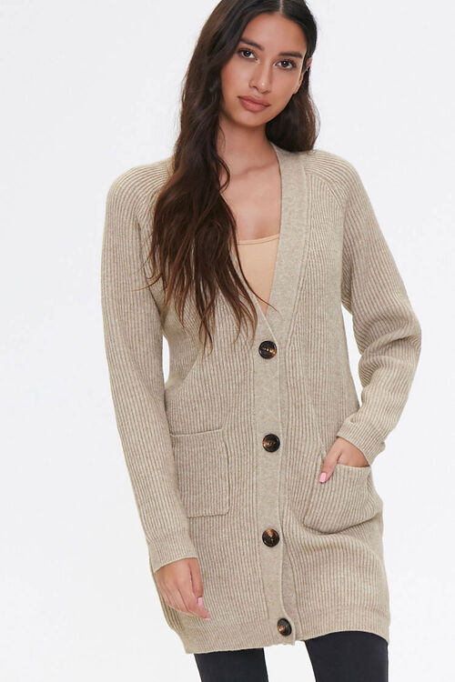 Ribbed Cardigan Sweater, image 5