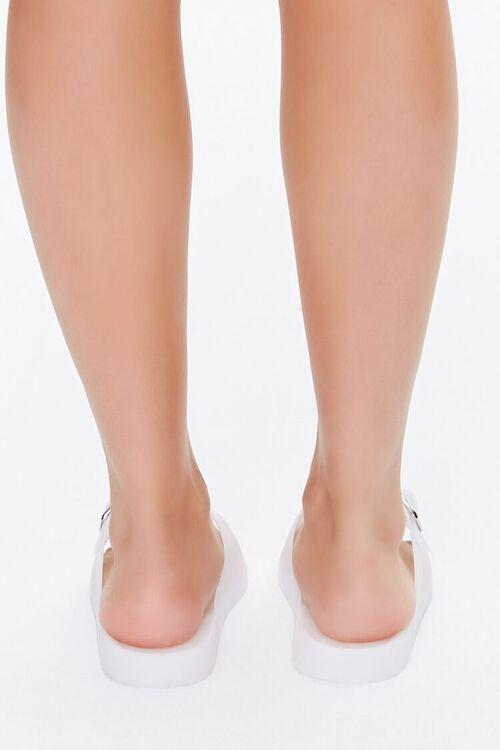 WHITE Buckled Flatform Sandals, image 4