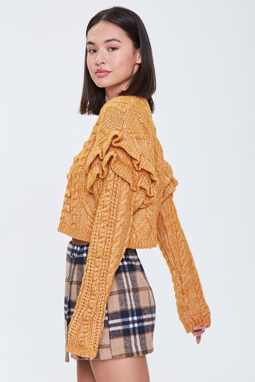 Cable Knit Ruffle Sweater, image 3