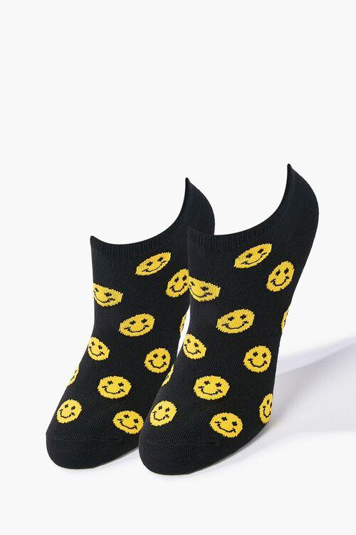 Smiling Face Print Ankle Socks, image 1