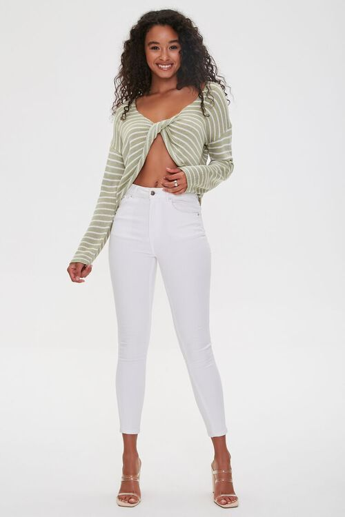 Striped Twist-Front Sweater, image 4
