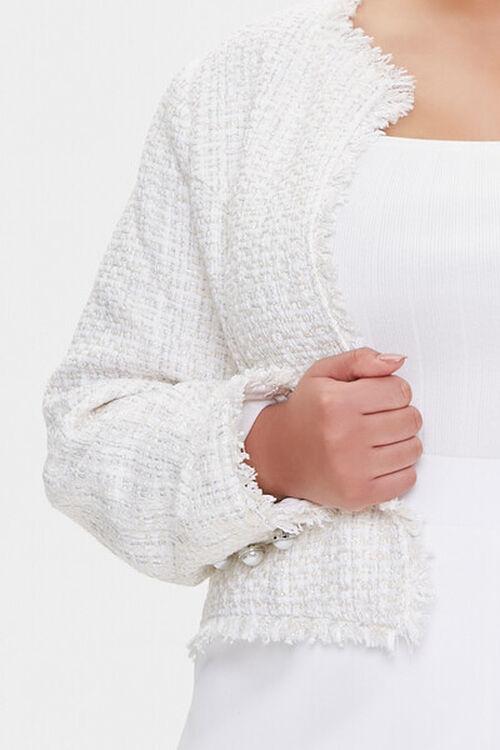 Plus Size Distressed Tweed Blazer, image 5