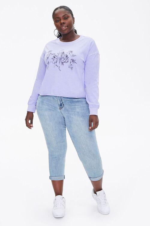 Plus Size Angel Graphic Top, image 4