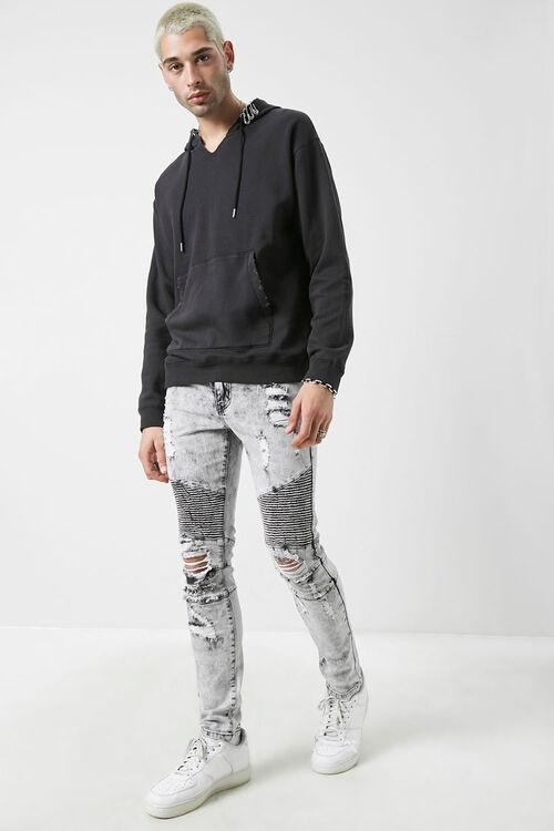 Distressed Moto Jeans, image 1