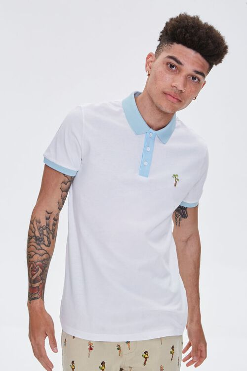 Palm Tree Embroidered Graphic Polo, image 2