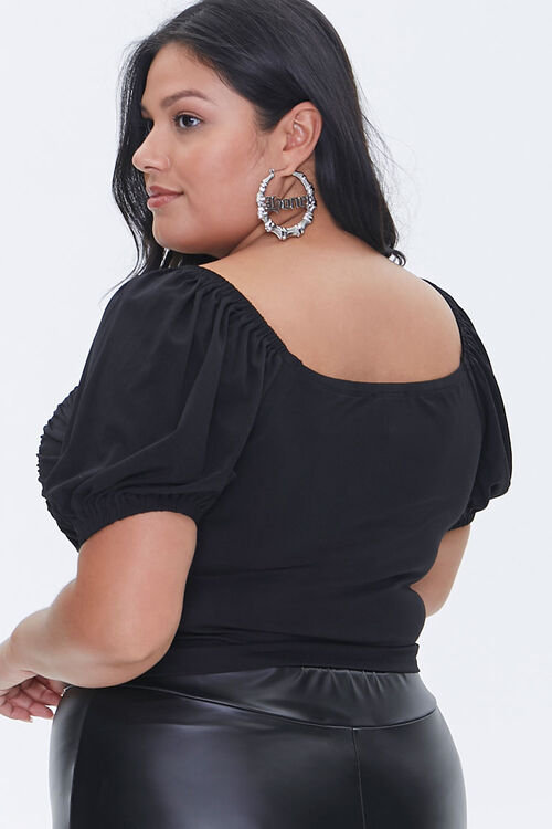 Plus Size Hook-and-Eye Crop Top, image 3