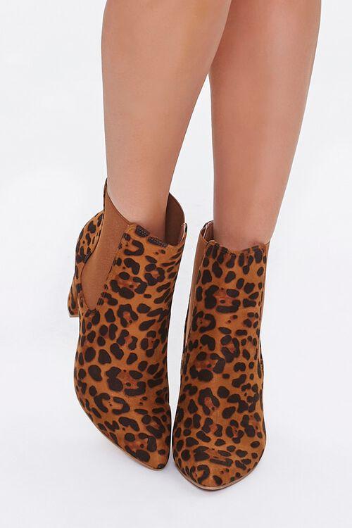 Leopard Print Block Heel Chelsea Boots, image 4