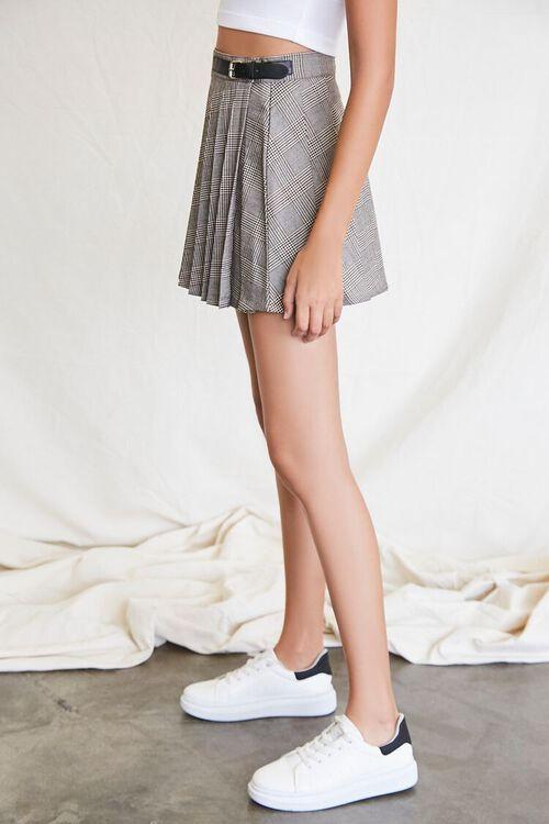 BLACK/MULTI Pleated Plaid Mini Skirt, image 3