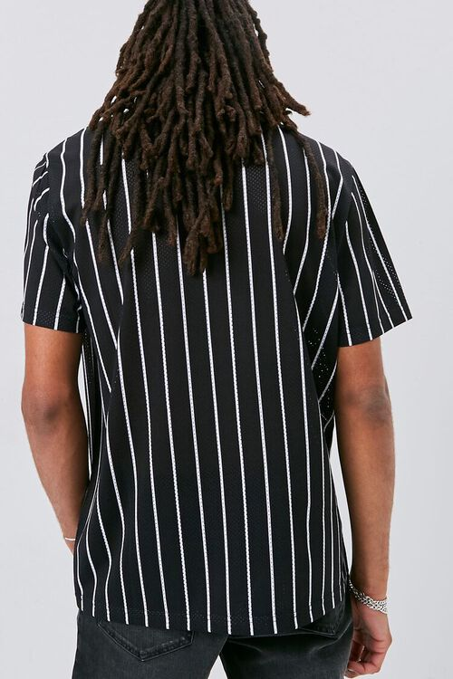 Vertical Striped Print Jersey Mesh Tee, image 3
