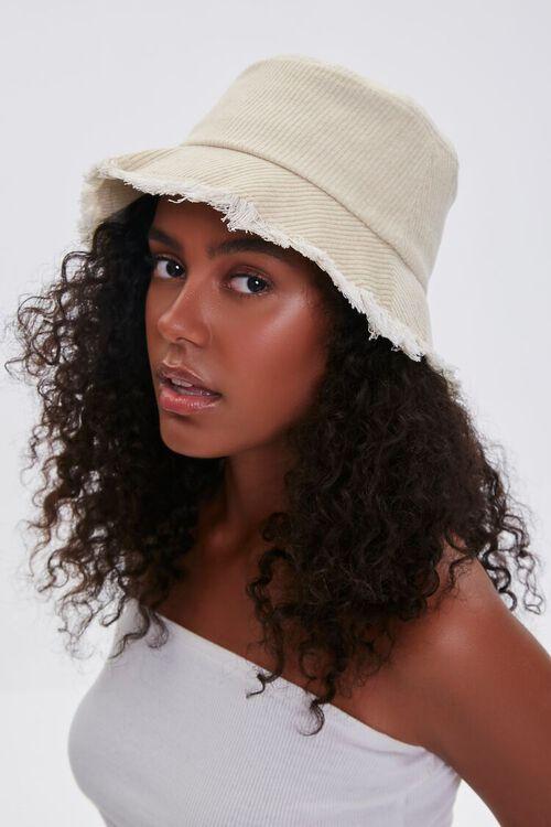 CREAM Frayed Corduroy Bucket Hat, image 3