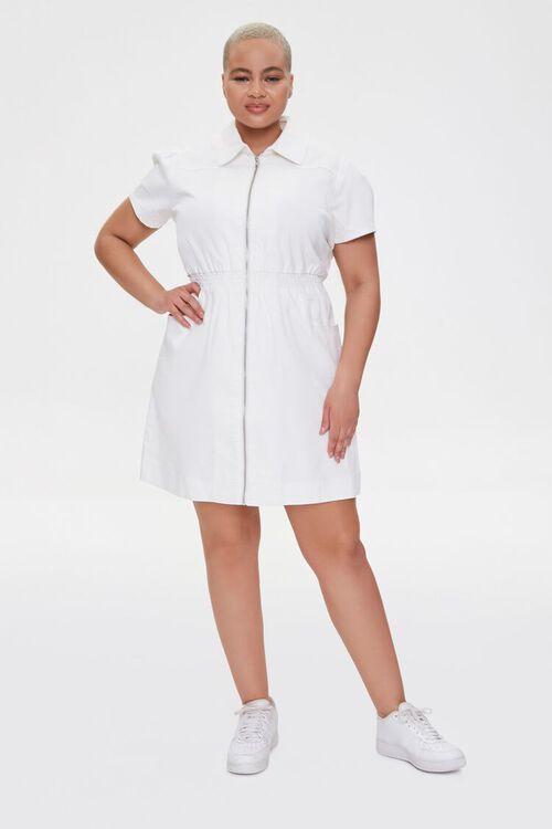 Plus Size Denim Mini Dress, image 4