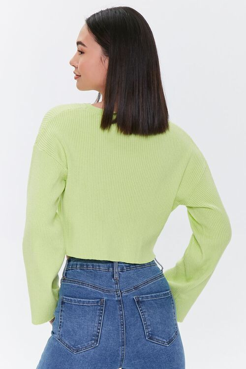 Cropped Bell-Sleeve Sweater, image 3