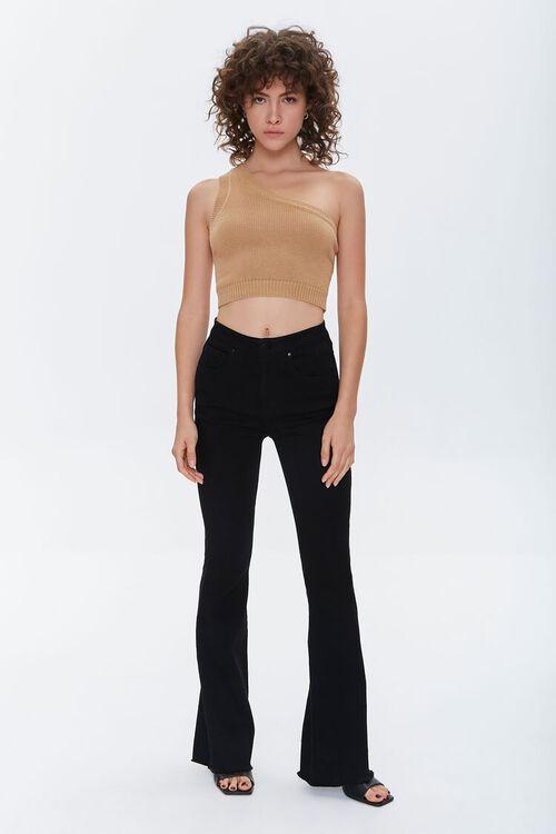 One-Shoulder Sweater Crop Top, image 4