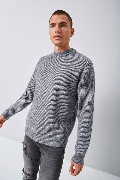 Marled Ribbed Mock Neck Sweater, image 2
