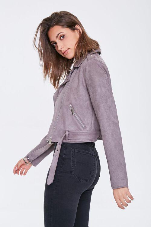 Faux Suede Moto Jacket, image 2