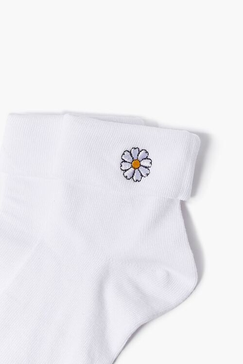 Daisy Embroidered Graphic Ankle Socks, image 3