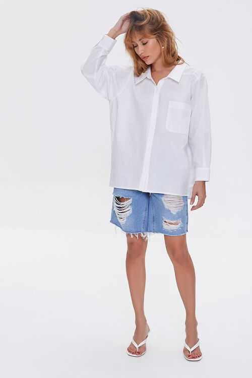 Distressed Denim Bermuda Shorts, image 5