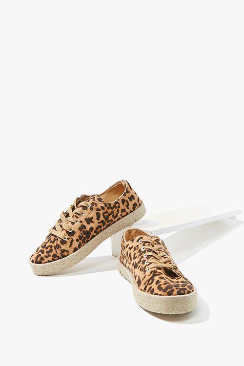 Leopard Low-Top Espadrille Sneakers, image 3