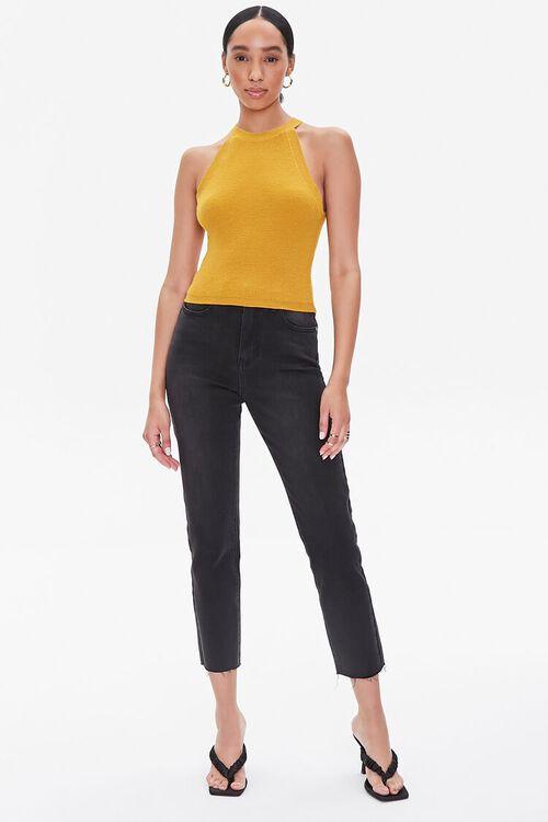 MUSTARD Sleeveless Form-Fitting Sweater, image 4