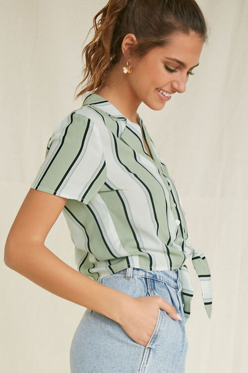Knotted Striped Shirt, image 2