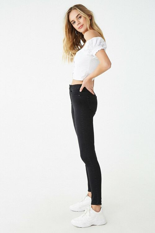 Sculpted High-Rise Skinny Jeans, image 3