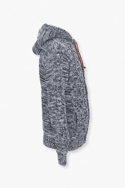 Marled Hooded Cardigan Sweater, image 2