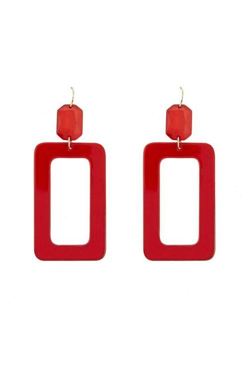 Translucent Rectangle Drop Earrings, image 1