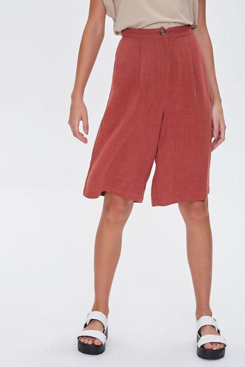 Linen-Blend Bermuda Shorts, image 2