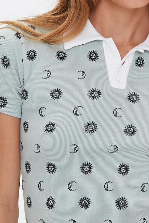 Celestial Print Polo Shirt, image 5