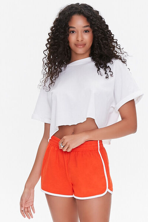French Terry Ringer Shorts, image 1