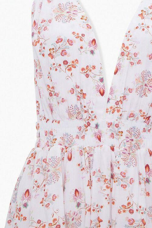 CREAM/MULTI Crinkled Floral Halter Dress, image 4