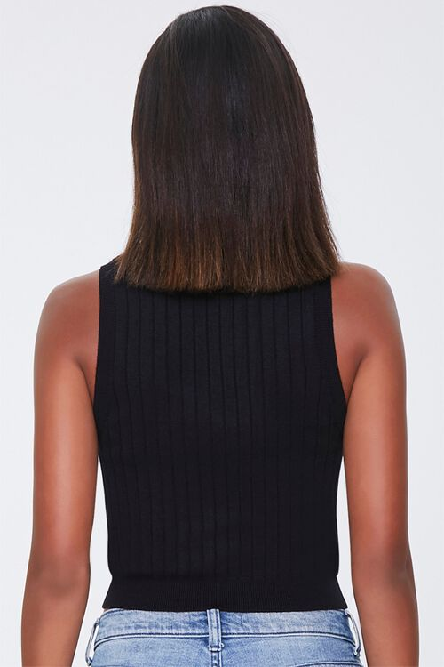 Ribbed Mock Neck Top, image 3