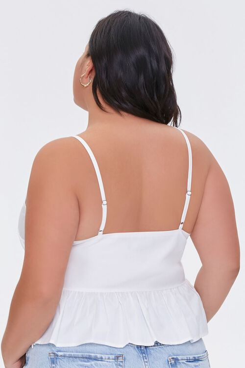 Plus Size Embroidered Floral Cami, image 3