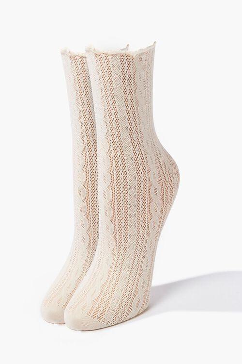 Lace Crew Socks, image 1