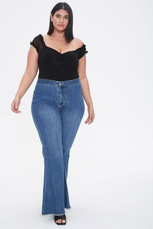 Plus Size Flare Jeans, image 5