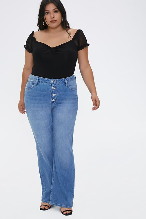 Plus Size Recycled Bootcut Jeans, image 1