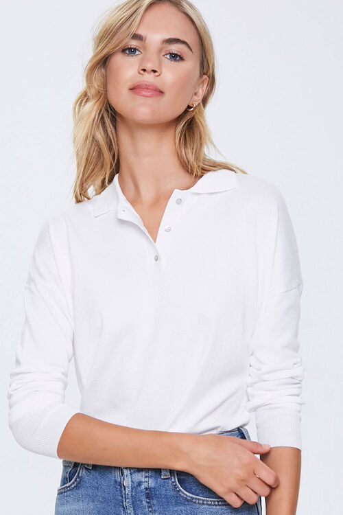 Ribbed Collared Top, image 1