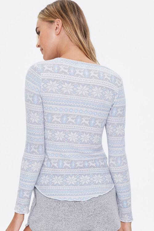 Fair Isle Henley Pajama Top, image 3