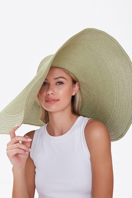 Oversized Floppy Straw Hat, image 1