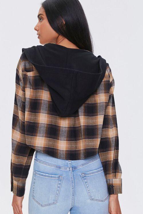 BLACK/MULTI Plaid Zip-Up Hooded Top, image 3