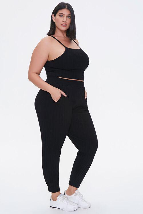 Plus Size Cropped Cami & Ankle Pants Set, image 2