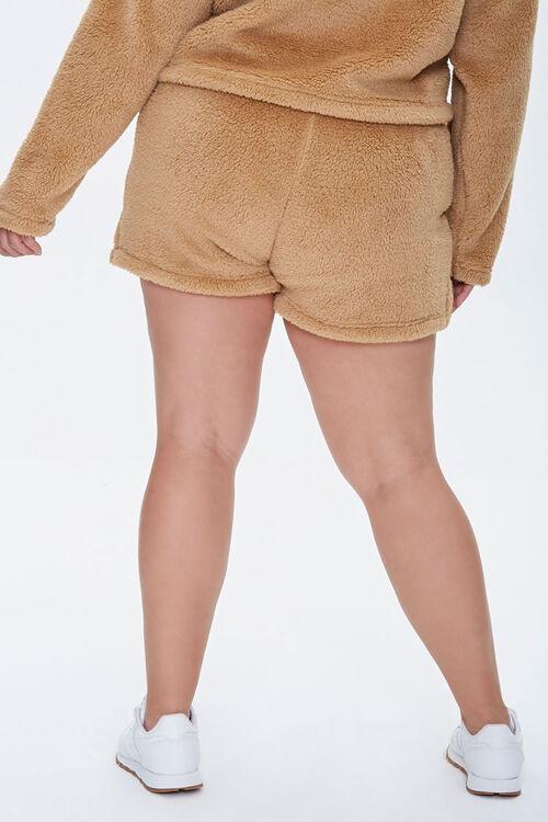 Plus Size Fuzzy Shorts, image 4