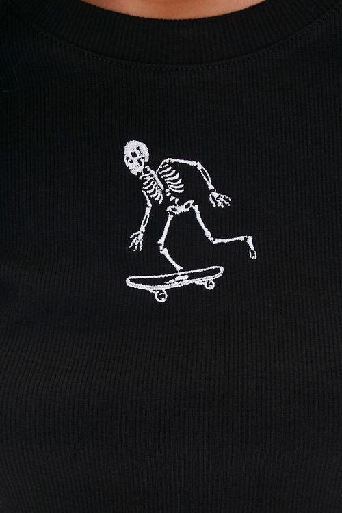 Skateboarding Skeleton Graphic Tee, image 5