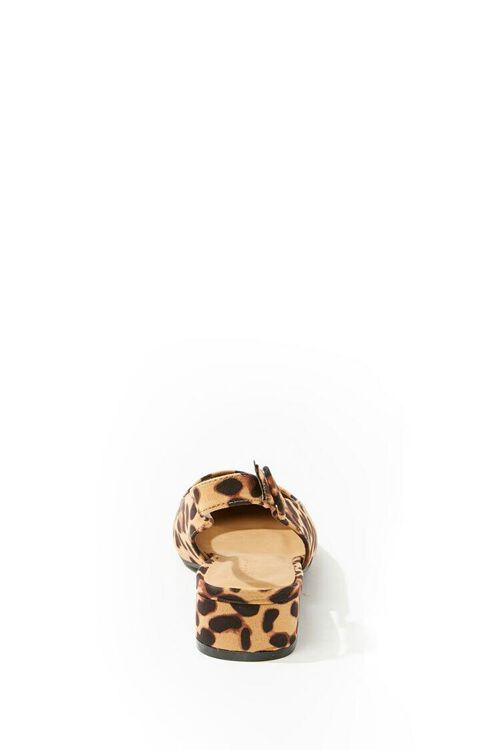 BLACK/BROWN Leopard Print Slingback Heels, image 2